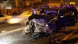 Пешеход спровоцировал ДТП в Алматы: пострадали пять человек (фото)
