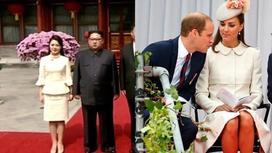 Жена Ким Чен Ына скопировала стиль Кейт Миддлтон