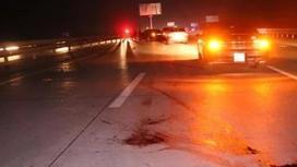 Қапшағай тас жолынан жүгіріп өтпек болған азамат бөлшектеніп қалды (фото)