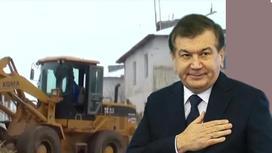 Өзбекстан президенті ең нашар ауылды 45 күнде жайнатып жіберді (видео)