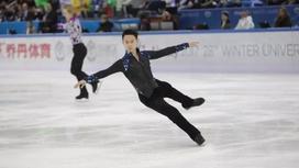 Қысқы Олимпиада: Денис Тен мұз айдынында өнер көрсетті