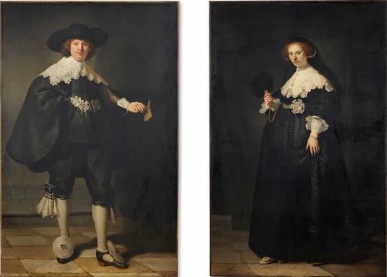 Свадебные портреты мужчины и женщины