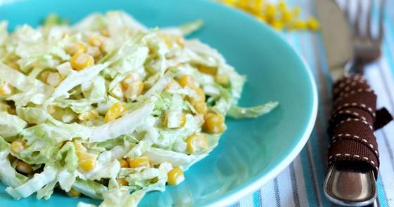 Салат из свежей капусты зимой