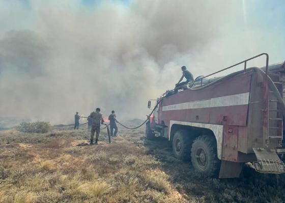 Пожар в Карагандинской области