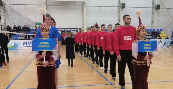 Игры 1 тура Чемпионата РК по волейболу стартовали в Акмолинской области