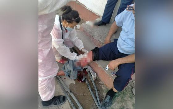 Раненый полицейский из Туркестанской области