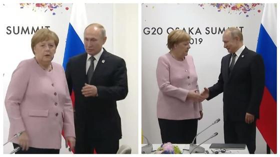 Путин помог растерявшейся на саммите Меркель (видео)