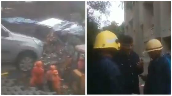 Упавшая стена похоронила заживо 16 человек в Индии