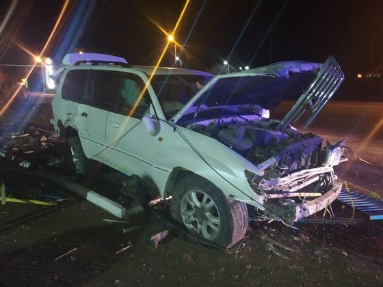 Водитель внедорожника сбил человека, уходя от полицейской погони в Уральске (фото)