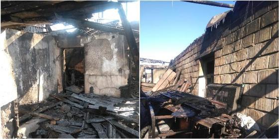 Все сгорело: бездомной стала семья после пожара в пятикомнатном доме в Караганде