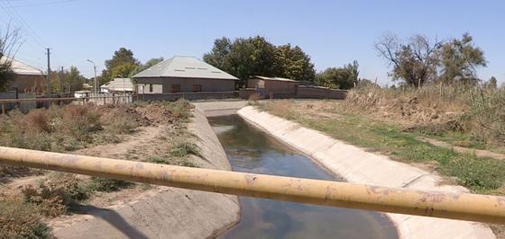 Канал в селе Жана Турмыс в Туркестанской области