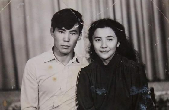 Серик Омаров с женой