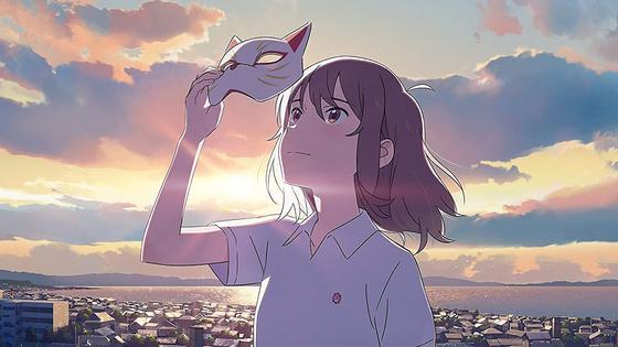 Кадр из аниме «Сквозь слезы я притворюсь кошкой»