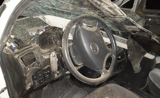 Салон пострадавшего авто в ЗКО