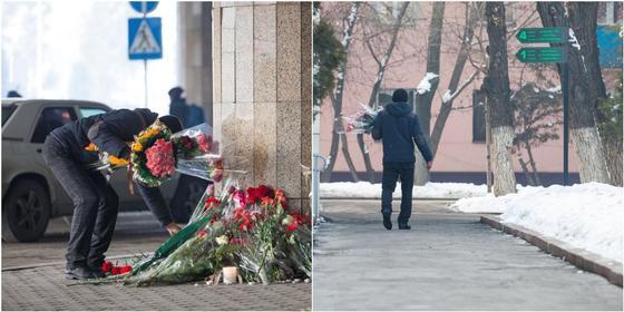 Неизвестный чуть не забрал цветы, которые возложили жертвам крушения Bek Air