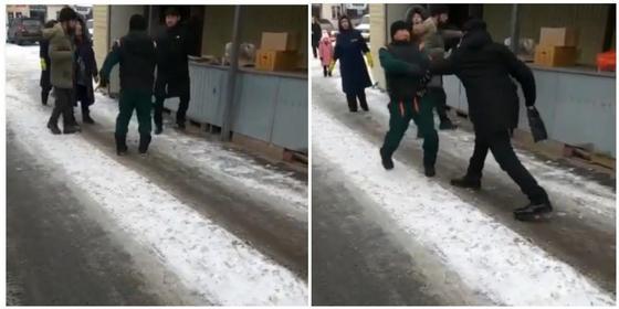 Больной шизофренией мужчина ударил ножом продавца на рынке в Алматы (видео)