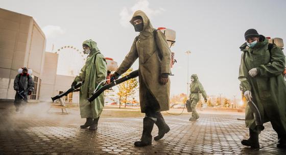 Масштабная дезинфекция пройдет в третий раз в Нур-Султане (фото, видео)