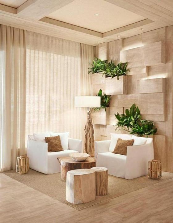 Дизайн дома в ореховом цвете