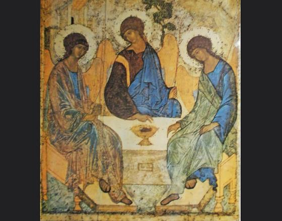 Икона с тремя святыми