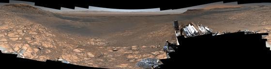 Удивительный пейзаж с Марса показали в NASA