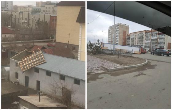 Остались без света: мощный ураган обрушился на Акмолинскую область (фото, видео)