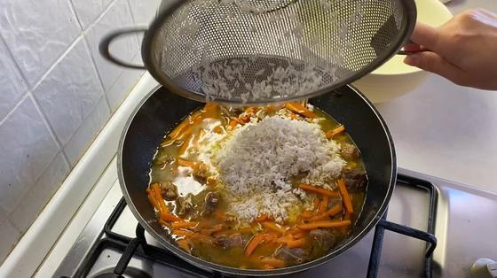 Рис с продуктами