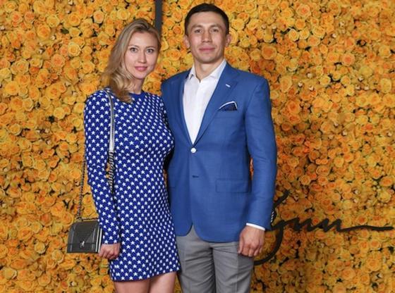 Геннадий Головкин әйелімен. Фото: hauteliving.com