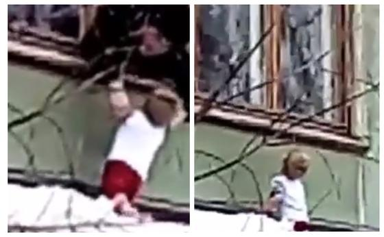 Павлодарда үшінші қабаттан құлаған бүлдіршін аман қалды (видео)
