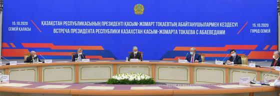 Встреча Токаева с Абаеведами в Семее