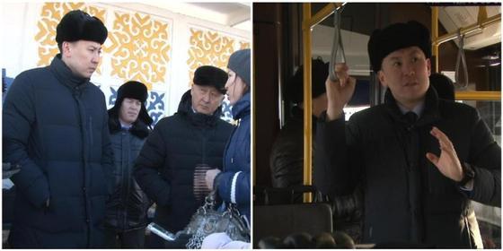 Аким Павлодара проверил жалобы на «38» маршрут, воспеваемый Скриптонитом