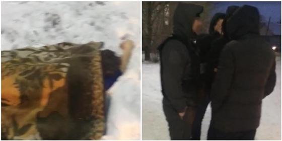 Двое парней убили женщину и тащили ее в ковре по Экибастузу