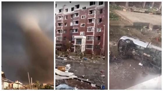 6 человек погибли, около 200 ранены: гигантский смерч обрушился город в Китае (видео)
