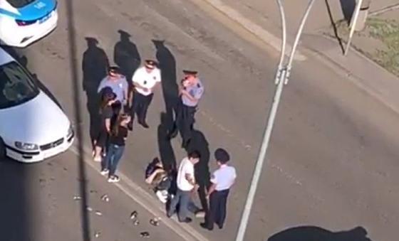 "Автоледи сбила пешехода на ""зебре"" в Караганде"