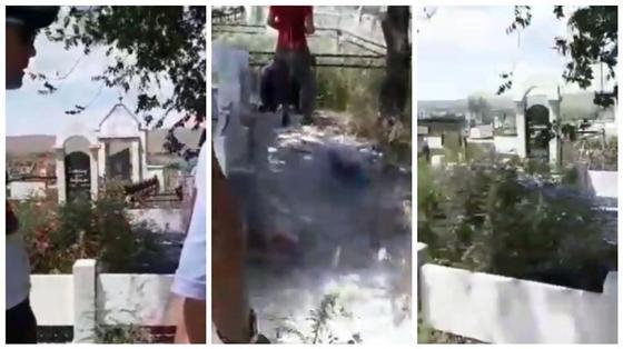 Шашлыки между могил: пикник на кладбище сняли на видео в Талдыкоргане