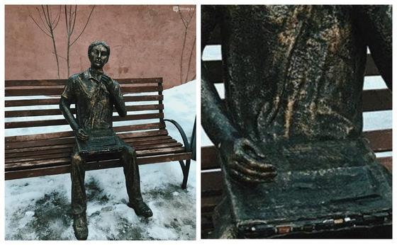 Алматыда мүсіннің ноутбугын ұрлап кетті