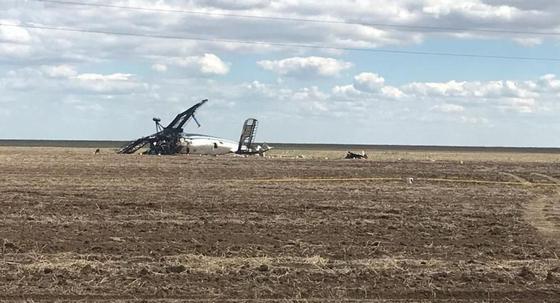 Появился снимок с места крушения Ан-2 близ Нур-Султана