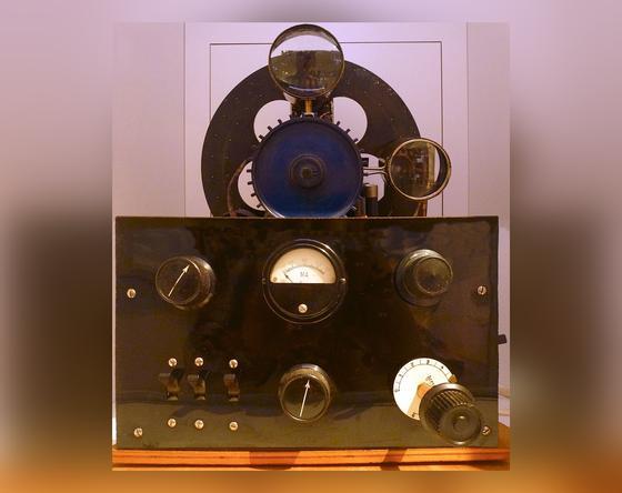 Телевизионный приемник с диском Нипкова
