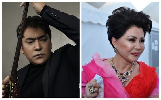 Мейрамбек Бесбаев, Роза Рымбаева. Фото: Әншінің жеке парақшасы,qazaquni.kz