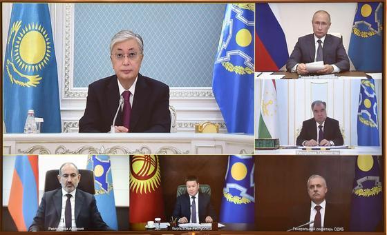 Участники сессии Совета коллективной безопасности ОДКБ.