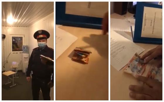 Взятку пресекли на блокпосту в Алматы
