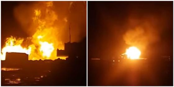 Более суток не могут потушить пожар на месторождении в Мангистау