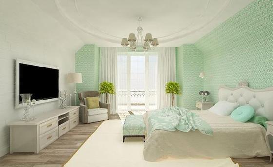 Дизайн дома в мятном цвете