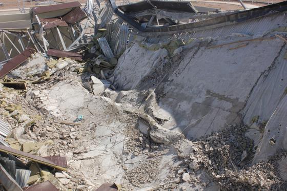 Последствия обрушения спорткомплекса в Чундже