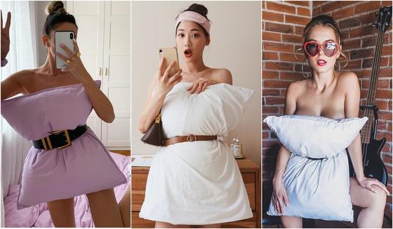 Блогерша прикрыла тело подушкой во время изоляции и случайно запустила тренд