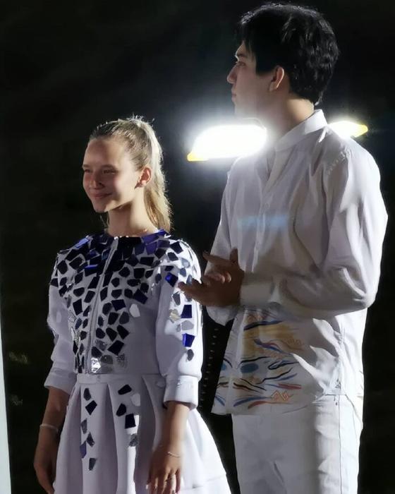 Димаш Кудайберген и Ангелина Ломако