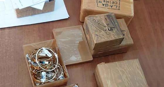 Задержанные на границе украшения