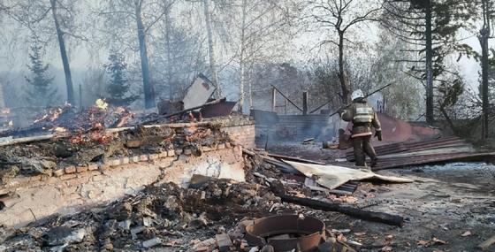 Сгоревший дом в ВКО