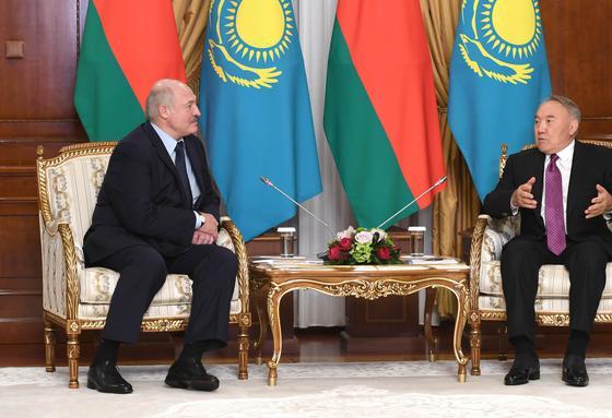 Нұрсұлтан Назарбаев пен Александр Лукашенко. Фото: elbasy.kz