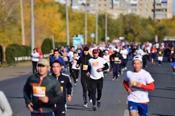 В Уральске прошёл первый международный марафон