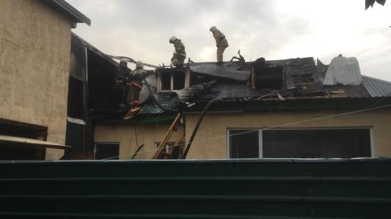Общежитие горело в Нур-Султане (фото)